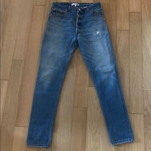 Re/Done jeans size 27 straight/slim leg